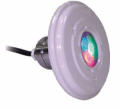CORPO FARO MINI RGB ASTRAL POOL CON FLANGIA IN ABS BIANCO